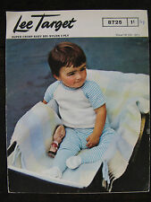 "Vintage Lee Target Knitting Pattern: Baby Dress & Tights, 3ply, 18-22"", 8725"