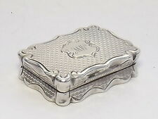 SPLENDID ANTIQUE VICTORIAN SOLID STERLING SILVER VINAIGRETTE BIRMINGHAM 1863