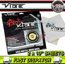"Anti Vibe Car Door Panels Sound Deadening Material 10"" x 10"" inch 2 Piece Sheets"