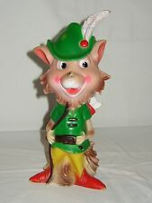 WALT DISNEY ROBIN HOOD BIG RUBBER CHARACTER 10 INCH - TOP CONDITION - ITALY 1973