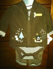 Walt Disney World Mickey Mouse 3 Pc Baby Outfit, 0/3 Months - Super Cute!! - NWT
