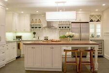 "82"" White Kitchen Island with solid wood top HOU-174, Custom features welcome"