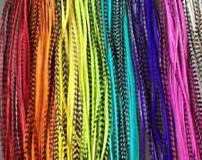 CUSTOM Clip On Feathers Extensions For In Hair saddle long skinny Bonded colors