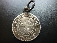 1896 south africa 2 shilling pendentif pièce