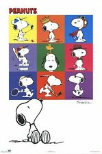 PEANUTS ~ SNOOPY DREAMS COLLAGE 24x36 CARTOON POSTER Charles Schulz
