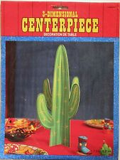 CACTUS CENTERPIECE 3-D Western Party Supply Table Decoration Desert Cowboy New
