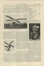 1925 The Autogyro Flying Machine Don Juan De La Cierva