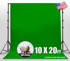 Chromakey 10ft x 20ft Green Screen Muslin Backdrop Photo Photography Background