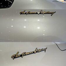 Detailkorea Car Lettering Slogans Emblem C-Type Gold for Ford Mustang