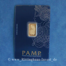 Goldbarren 2,5g 2.5 g Gramm Pamp Suisse Fortuna Blister Gold 99,99 gold bar 2,5