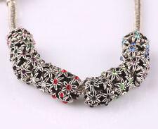 10pcs mix LAMPWORK CZ big hole spacer beads fit Charm European Bracelet AR570