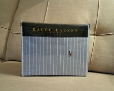 New Ralph Lauren Home 100% Cotton Striped Blue Duvet Cover & 2 Pillowcases KING