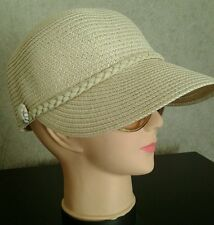 Ladies Lightweight Crushable Beige Summer Sun Cap. NEW !  One Size