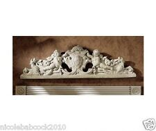 Angelic heavenly Cupids Stylish Hounds Royal Coat of Arms wall Sculpture
