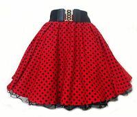 ROCK AND ROLL POLKA DOT SKIRT 50s/60s GREASE JIVE WOMENS FANCY DRESS COSTUME