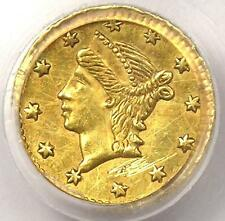 Round Liberty Quarter 25C California Gold Quarter Bg-223. Pcgs Uncirculated (Ms)