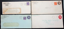 Postal History Set of 4 US Covers Letters Envelopes ADV GS USA Briefe (H-8346+