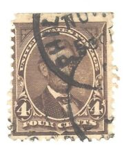 Scott 254 Early US Stamp 4c Lincoln...1894  Double Town Cancel
