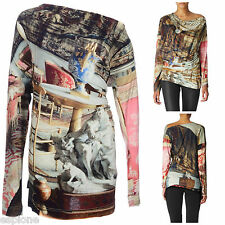 VIVIENNE WESTWOOD ANGLOMANIA SALON PRINT STRETCH JERSEY TOP. XS - UK 8