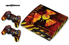 Skin Decal Wrap for PS3 Slim Black Warfare Playstation 3 Cod Console MELTDOWN