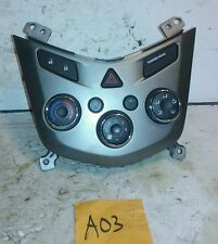 12 Chevrolet Sonic AC Heat Climate Control w/ Bezel 95076687 OEM Used