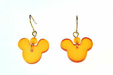 STUNNING ORANGE MICKEY MOUSE EARRINGS BRAND NEW SUMMER STATEMENT CUTE (A19)