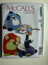 McCall's Pattern 6625 Animal Shaped Bag Chairs pillows children's decor