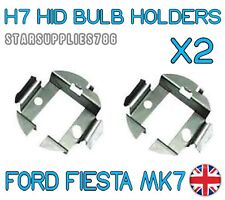 2x H7 METAL HID CONVERSION KIT BULB HOLDERS CLIPS ADAPTORS FORD FIESTA MK7