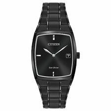 Citizen AU1077-59H Men's Eco Drive Black IP Stainless Steel 2-Hand Dress Watch