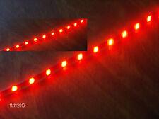 """SMART VOLVO LEXUS JAGUAR  RED 12"""" 5050 SMD LED STRIPS TOTAL  24 LEDS"""