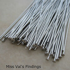 100 stainless steel jewelry headpins 3 inch 21 gauge