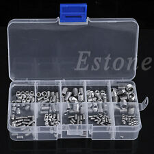 New 200Pcs Stainless Steel Hex Head Socket Allen Grub Screw Cup Point Assortment