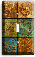 ITALIAN PATCHWORK TILES PATTERN PRINT SINGLE LIGHT SWITCH WALL PLATE COVER ART