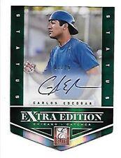 CARLOS ESCOBAR 2012 Elite Extra Edition Signature Status Emerald #190   #1/25