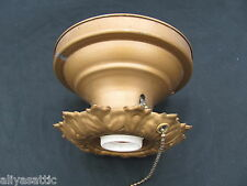 Vintage Ceiling or Wall Sconce Electric Light Fixture with Pull Chain Switch