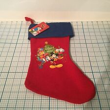 "New DISNEY Mickey Mouse Christmas Stocking ""A Present For You"""