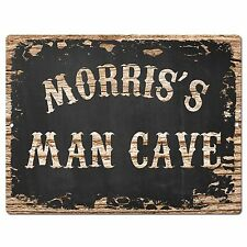 PP3012 MORRIS'S MAN CAVE Plate Chic Sign Home Room Garage Decor Birthday Gift