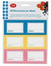 NEW 30 JAR LABELS STICKERS HOME MADE JAM PRESERVES MARMALADE BORDERS TALA 163