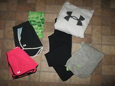 Lot of 6 women's UNDER ARMOUR shorts, sweats, hoodie - size SMALL