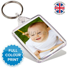 Personalised Custom Photo Gift Keyring Key Fob 45 x 35 mm | Passport Size
