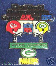 Super Bowl 1  Packers Chiefs Hanging Champs Dangle Pin