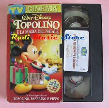 film VHS TOPOLINO E LA MAGIA DEL NATALE TV SORRISI  CARTONATA (F21*) no dvd
