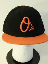 "Baltimore Orioles Baseball Hat New Era Official On Field 59Fifty 7 5/8"" 60.6 cm"