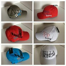 Casquettes hommes Billabong sports surf board baseball hat cap Flexfit Neuf