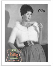 1950's Angora Bolero - Vintage Knitting Pattern Copy