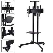 """Heavy Duty Adjustable Portable TV Stand Cart School Industrial Mobile 32""""- 65"""""""
