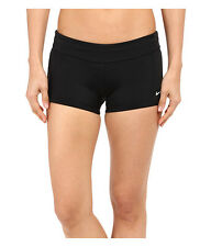NIKE WOMEN'S CORE MODERATE BOYSHORT BIKINI SWIM BOTTOMS BLACK MEDIUM NEW! $50