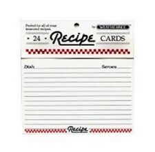 "WEATHERBEE LINED  RECIPE CARDS  4"" X 6"",  24 COUNT  NEW FREE SHIP MADE USA"