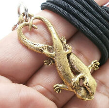 DUO GECKO PENDANT THAI AMULET LOVE SEX APPEAL ATTRACTION NECKLACE THAILAND GIFT