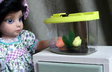 aquarium for Blythe, Barbie, Makie, BJD, Monster hight & other dolls. YELLOW